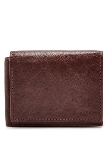 Fossil brown Fossil Ingram Brown Wallet ML3858200 274DCACF7EFBF1GS_1