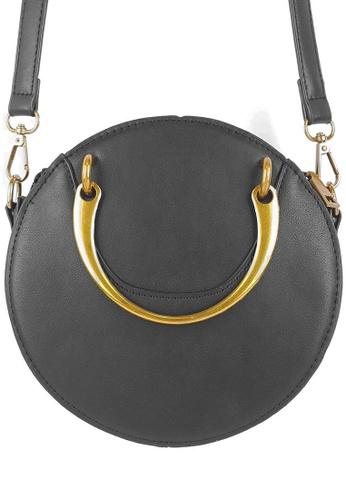 BELLE LIZ 黑色 Retro Vintage PU Round Rivet Ladies Bag Black 6C45DACD36DB06GS_1