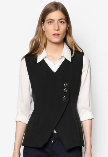 Janelle 單排鈕無袖外esprit高雄門市套, 服飾, 夾克 & 大衣