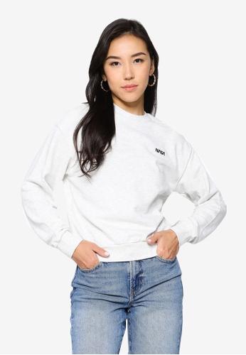 H&M grey Embroidered Sweatshirt 1F299AA3B06232GS_1