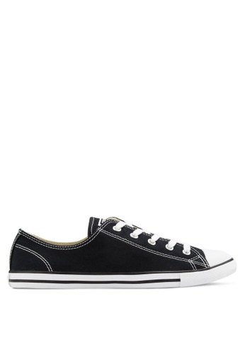 Converse black Chuck Taylor All Star Canvas Ox Women's Sneakers CO302SH12GSTMY_1