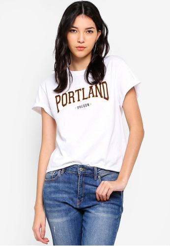 Miss Selfridge white Portland T-Shirt C0848AA345EC9AGS_1
