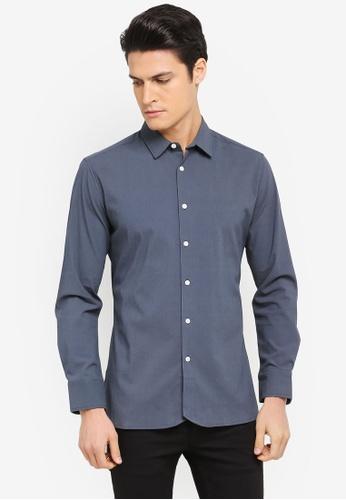 ZALORA navy Curve Hem Slouchy Long Sleeve Shirt B6773AAD06A83AGS_1