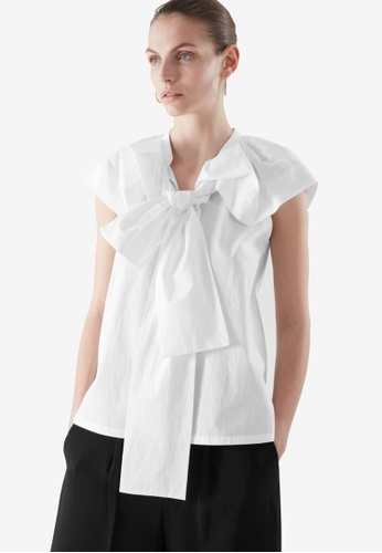 Cos white Bow Detail Top 35154AA32561D2GS_1
