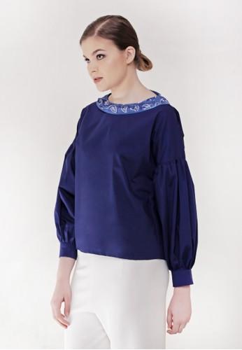 Gi & Ne (Giane) Official blue Eir Long Sleeve Idul Fitri Edition Blouse 63031AA6614545GS_1