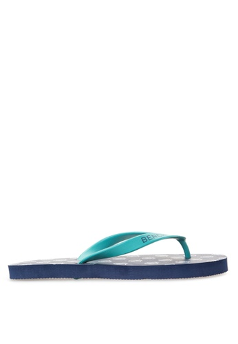 BENCH blue Basic Rubber Slippers BE550SH96LTZPH_1