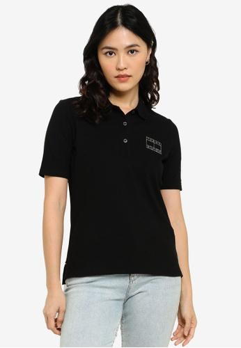 Tommy Hilfiger black Regular Lurex Short Sleeves Polo B4AF7AA804C088GS_1