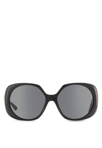 Med esprit outlet 高雄鉚釘飾粗圓框太陽眼鏡, 飾品配件, 飾品配件
