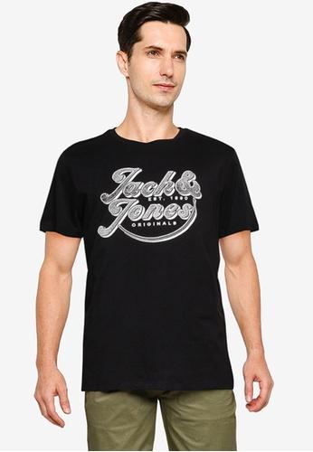 Jack & Jones black Brians Short Sleeve Crew Neck Tee 060D4AA4126398GS_1