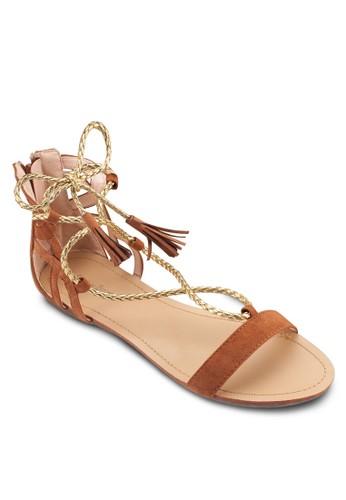 Grecian esprit童裝門市Lace Up Sandals, 女鞋, 鞋