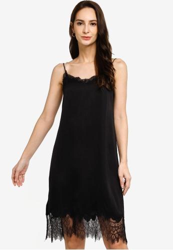 Hopeshow black Spaghetti Strap Lace Midi Dress 76665AAE558C34GS_1