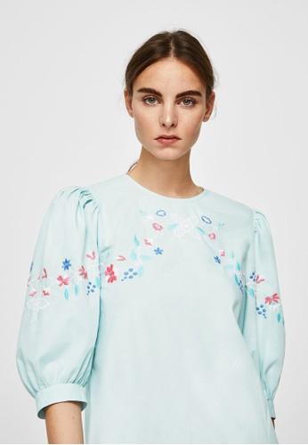 Jual Mango Floral Embroidery Dress Original   ZALORA ...