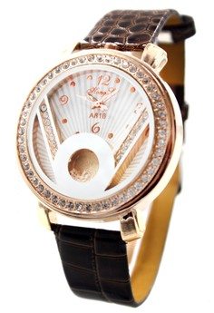 Hong Li Victoria Leather Stoned Watch A816