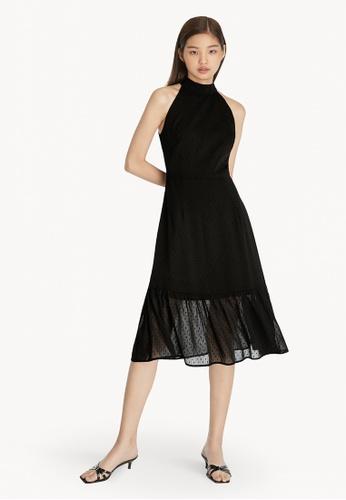Pomelo black Polka Dot Halter Dress - Black FD8F9AA5677B27GS_1