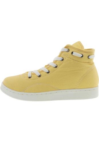 Maxstar 黃色 新款韩国鞋020-Taller時尚帆布布混合女黃色 US Women Size MA345SH59HCMTW_1