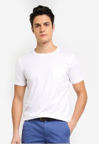 Brooks Brothers 白色 素色休閒T恤 A87BDAAEE26B76GS_1