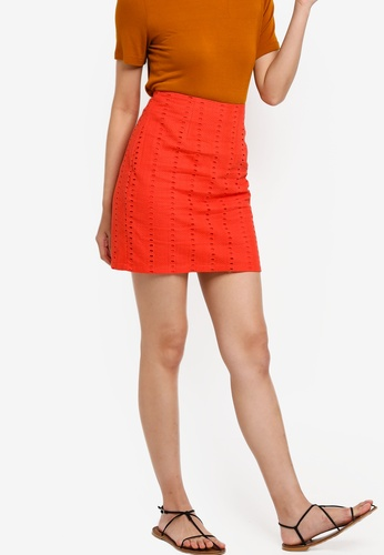 Something Borrowed orange High Waist Mini Skirt 88159AA306C088GS_1