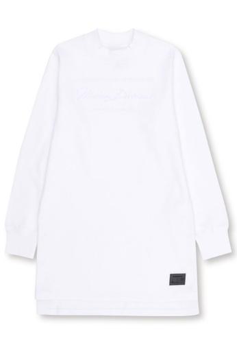 MUSIUM DIV white Embellished long sweatshirt 96EB8AA496A662GS_1
