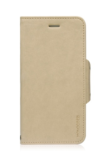 Monocozzi beige Lucid Folio Leather Hard Flip Folio for iPhone 6 MO983AC75BWQHK_1