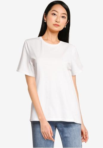 URBAN REVIVO white Women's T-Shirt BDC97AA6876D90GS_1