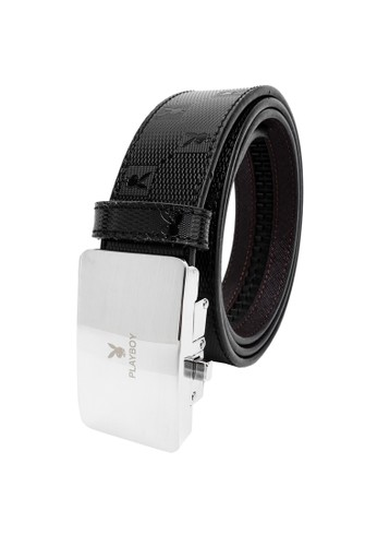 Playboy black Playboy 35mm Automatic Bukle Belt D8E74AC0082083GS_1