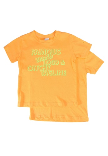 UniqTee orange Famous Brand Tee 2-Pack 6557FKA0550C47GS_1
