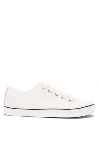 H2Ocean white Two Tone Sneakers Lace up Snekaers BB36ESH433FE08GS_1