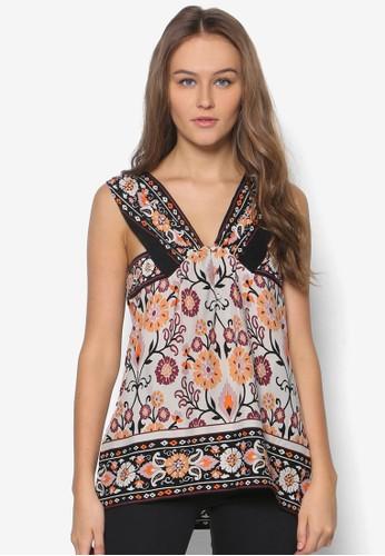 Latina 條紋zalora 包包評價寬肩帶上衣, 服飾, 上衣