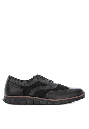 Alberto black Formal Wingtip Oxford Shoes 623A0SH002734DGS_1