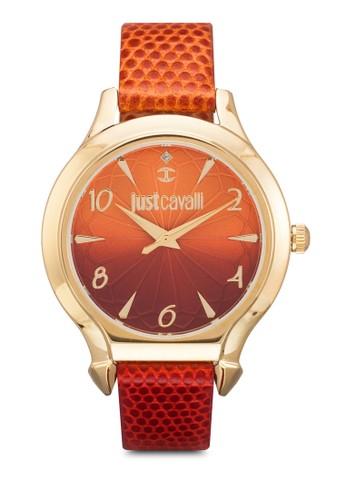 R7251533501 Just Fesprit hk storeusion 漸層皮革圓錶, 錶類, 飾品配件