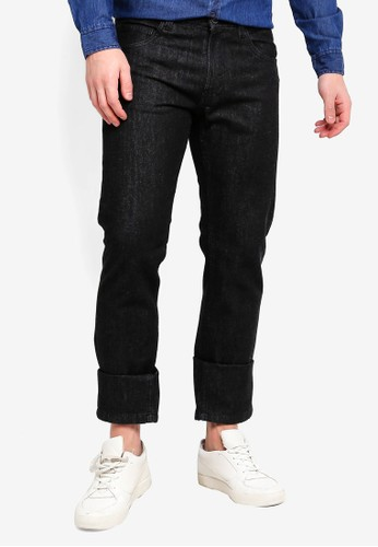 OVS black Straight Fit Denim Jeans 94111AAB5FE14DGS_1