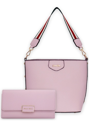 Polo Hill pink Polo Hill Hobo Shopper Bag B8C5DACF82E0DEGS_1