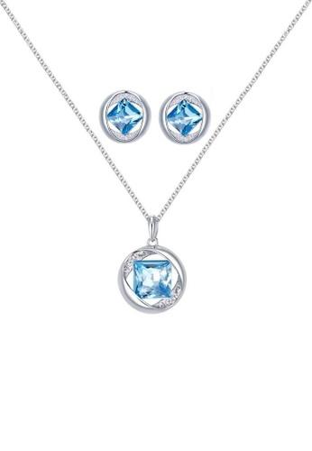 ADORA blue Swarovski Blue Crystal Set AD365AC13RCWHK_1