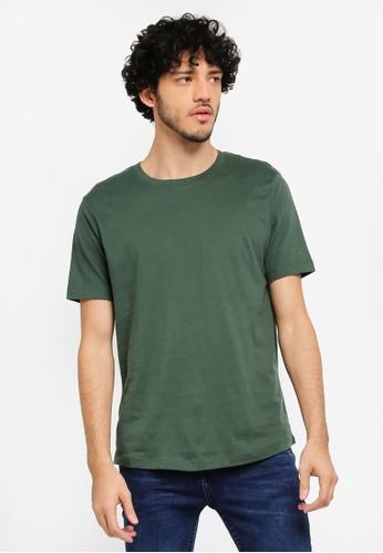 MANGO Man green Essential Cotton-Blend T-Shirt MA449AA0T1EOMY_1