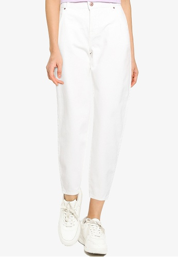ONLY white Troy High Waist Denim Jeans F2A46AA06C4269GS_1