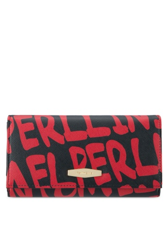 Perllini&Mel black and red Faux Leather Long Wallet PE444AC0SBNEMY_1