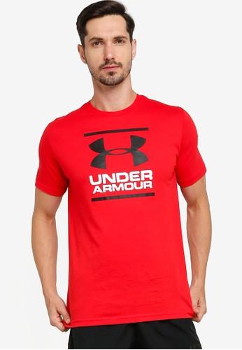 Under Armour red UA GL Foundation Short Sleeves T-Shirt 9884FAA7E5B07BGS_1