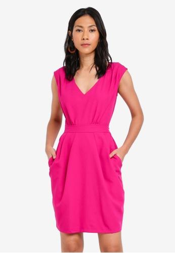 CLOSET pink Tulip Skirt Tie Dress 4BF12AAA3377E3GS_1