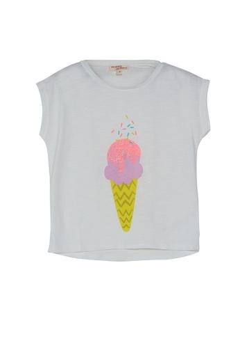 DU PAREIL AU MÊME (DPAM) white Ice Cream Cone Print Top 8CFB1KAEF279F1GS_1