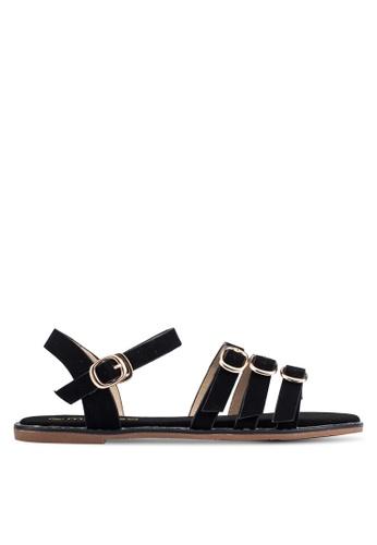Mimosa black Strappy Sandals MI065SH0RSSAMY_1