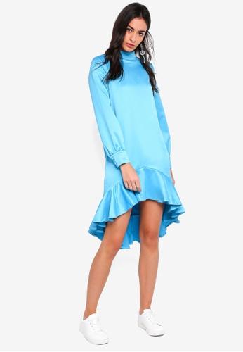 GHOSPELL blue Soar Above Dip Dress 37277AA6EE7760GS_1