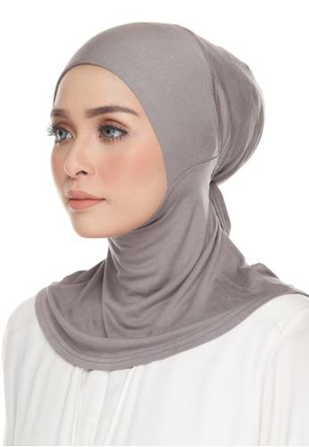 Kaen.co grey Awra Necktie Glamor Grey (Adjustable Inner Neck) 3D002AA19FDA9FGS_1