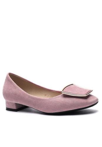 Twenty Eight Shoes 尖頭梯扣絨面高踭鞋1205-42 C58E8SH611E447GS_1