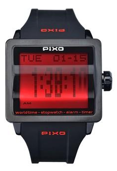 Digital Flip Watch PX-1JSBBK-16
