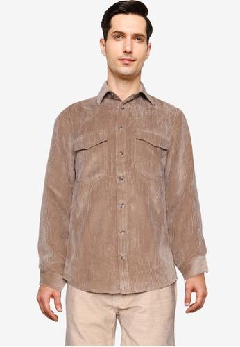 LC Waikiki beige Regular Fit Velvet Shirt BEE34AAD4A94DBGS_1