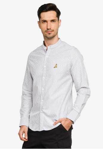 Brave Soul white Striped Long Sleeved Oxford Shirt ECE64AAA49036CGS_1