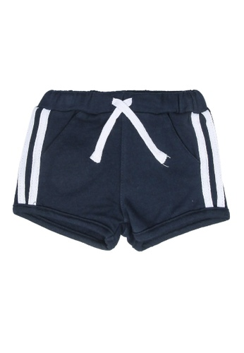 FOX Kids & Baby navy Side Stripes Active Shorts 0639DKAED38F91GS_1