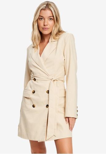 Calli 米褐色 Jules Blazer Dress EF5F0AA4FD066FGS_1