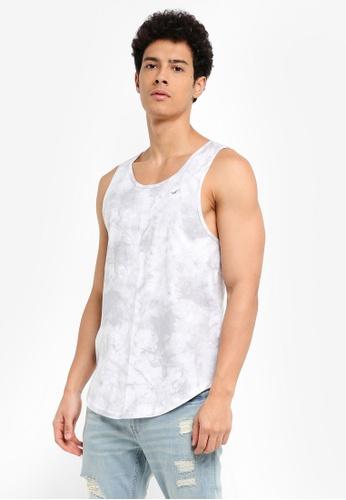 Hollister white MH Wash FX Tank T-Shirt 21932AAEC7ADA4GS_1