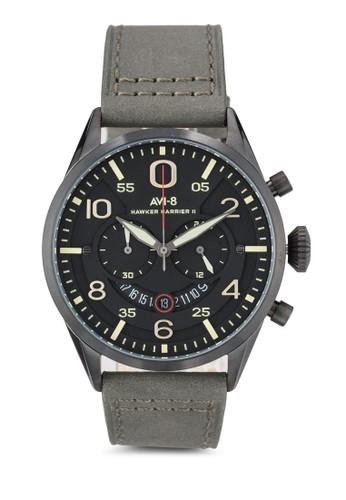 Hawker Harzalora 手錶rier II 皮革大圓錶, 錶類, 飾品配件